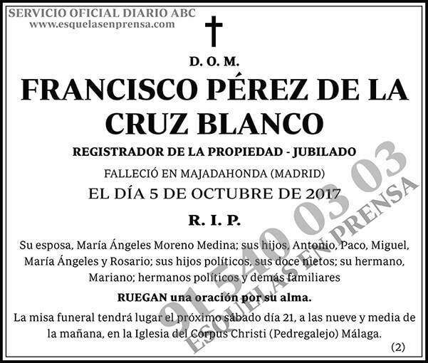 Francisco Pérez de la Cruz Blanco
